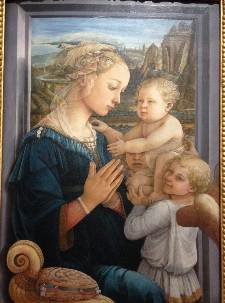 聖母子と2人の天使(リッピーナ)