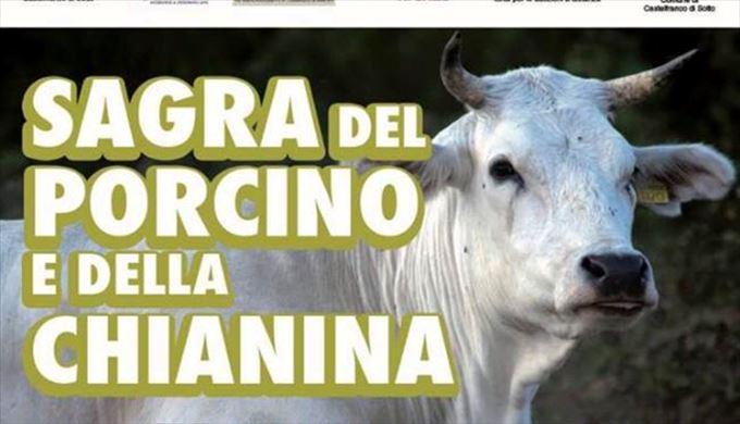 カステルフランコ・ディ・ソットのポルチーニ&キアニーナ牛祭り