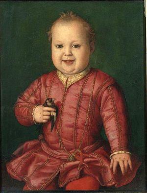 コジモ1世の息子ガルツィアの肖像 アニョロ・ブロンズィーノ, 1544 ウフィツィ美術館, フィレンツェ