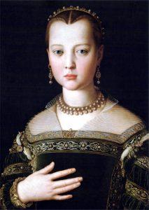 コジモ1世の娘マリアの肖像 アニョロ・ブロンズィーノ, 1551年頃 ウフィツィ美術館, フィレンツェ