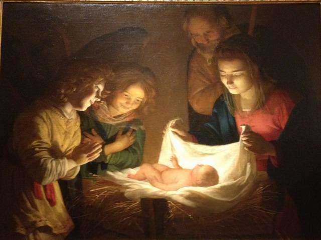 イエスの誕生<br />ゲラルド・デッレ・ノッティ, 1619頃<br />ウフィツィ美術館, フィレンツェ