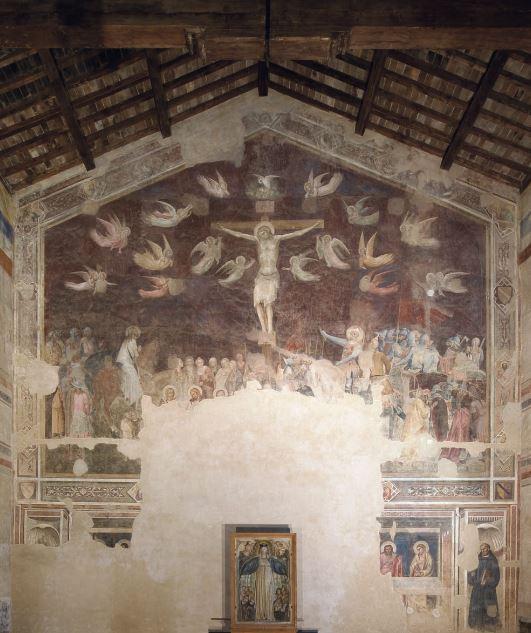 オルカーニャ 「最後の晩餐?と十字架磔刑」 1360-65年頃 サント・スピリト教会、フィレンツェ