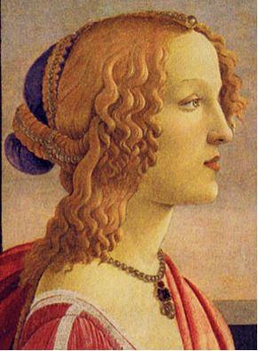 シモネッタ・ヴェスプッチの肖像 サンドロ・ボッティチェリ、1485年頃 丸紅本社 役員フロア