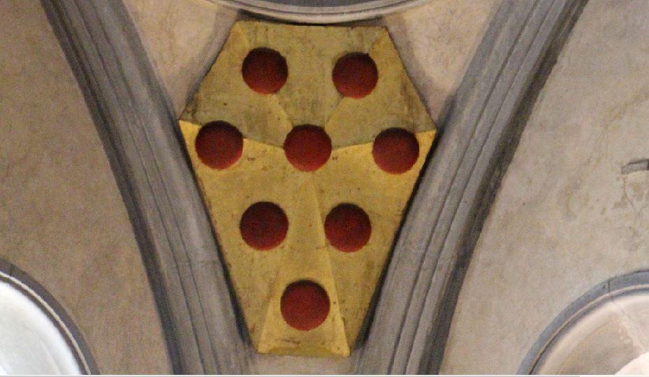 メディチの紋章⑥ボールが8つ