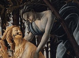 ボッティチェリ「春」ゼフィロスとクロリス
