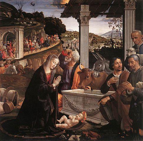 羊飼いの礼拝 ドメニコ・ギルランダイオ, 1485頃 サンタ・トリニタ大聖堂, フィレンツェ
