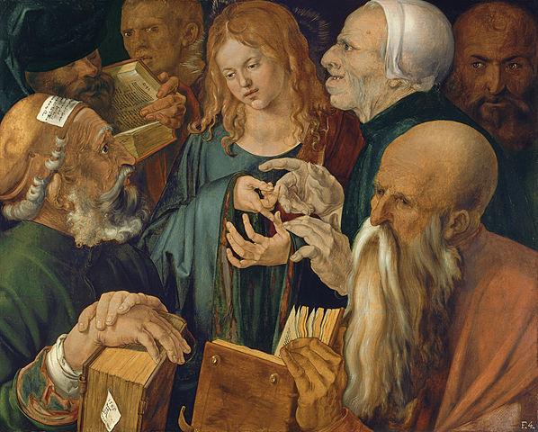 博士たちに囲まれるイエス アルブレヒト・デューラー, 1506 ティッセン=ボルネミッサ美術館, マドリード