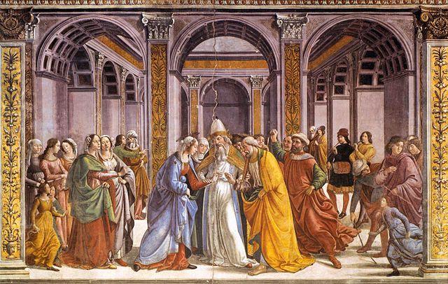 マリアの結婚 ドメニコ・ギルランダイオ, 1485-90 サンタ・マリア・ノヴェッラ大聖堂, フィレンツェ