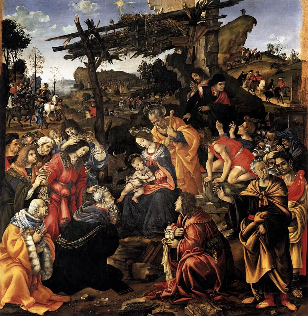 東方三博士の礼拝 フィリッピーノ・リッピ, 1496 ウフィツィ美術館, フィレンツェ