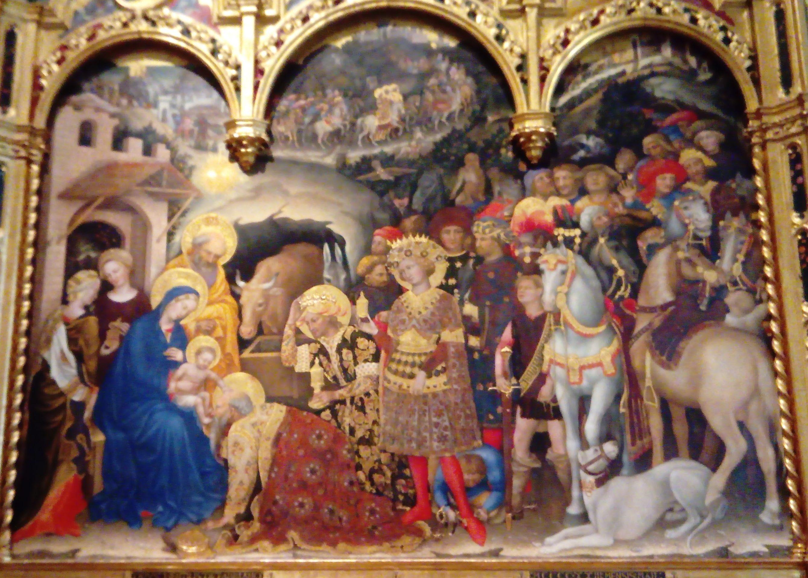 東方三博士の礼拝 ジェンティーレ・ダ・ファブリアーノ, 1423 ウフィツィ美術館, フィレンツェ