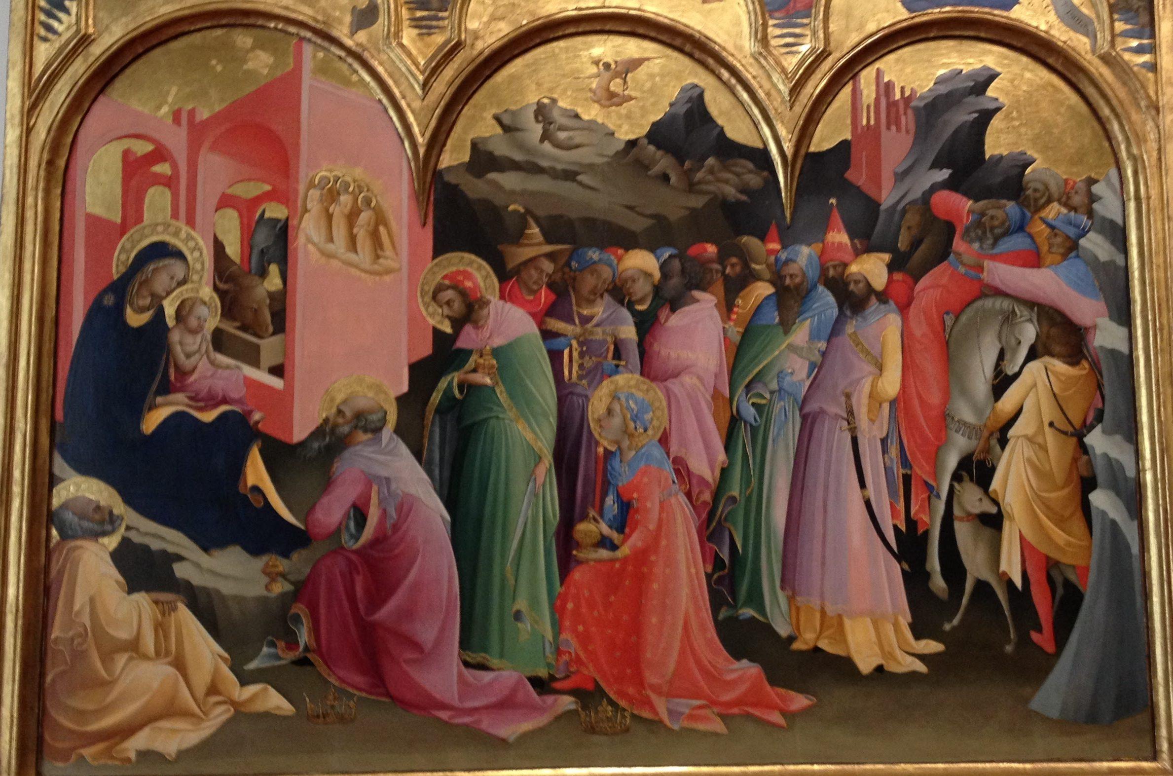 東方三博士の礼拝 ロレンツォ・モナコ, 1420-22 ウフィツィ美術館, フィレンツェ