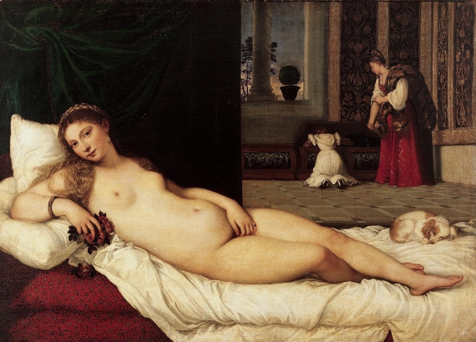 ウルヴィーノのヴィーナス ティツィアーノ・ヴェチェッリオ, 1538 ウフィツィ美術館, フィレンツェ