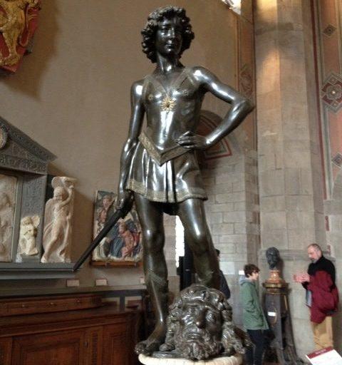 ダヴィデ アンドレア・デル・ヴェロッキオ, 1466-69 国立バルジェッロ博物館, フィレンツェ