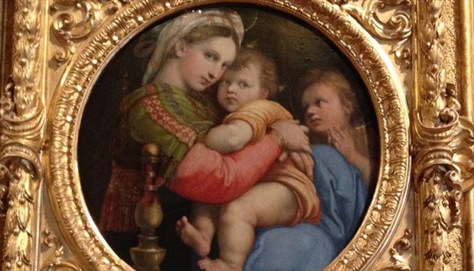 小椅子の聖母 ラファエロ・サンツィオ, 1513-14頃 パラティーナ美術館, フィレンツェ