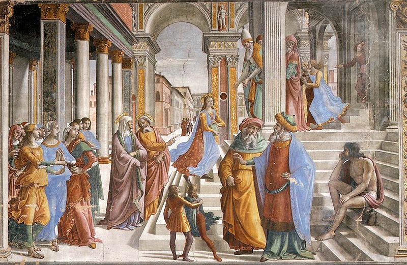 マリアの神殿奉献 ドメニコ・ギルランダイオ, 1485-90 サンタ・マリア・ノヴェッラ大聖堂, フィレンツェ