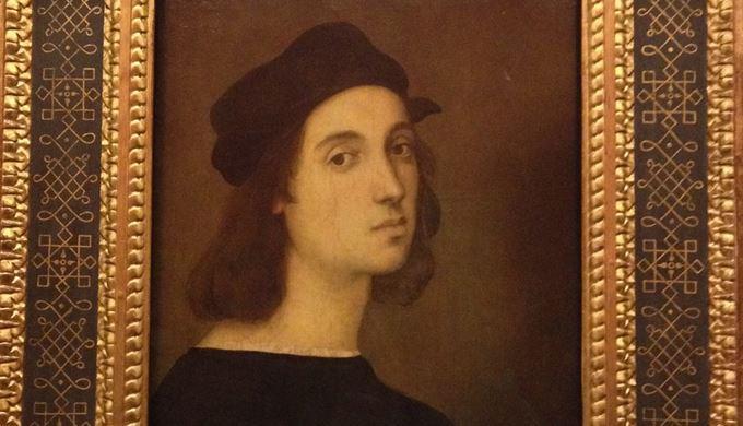 自画像<br />ラファエロ・サンツィオ, 1504-06<br />ウフィツィ美術館, フィレンツェ
