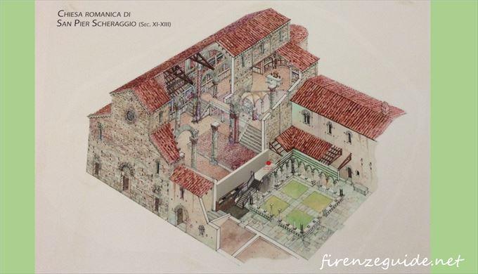 サン・ピエル・スケラッジョ教会復元予想図<br /> ウフィツィ美術館, フィレンツェ