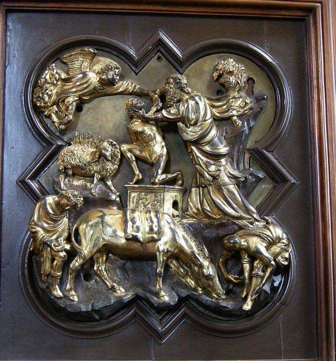 イサクの犠牲 フィリッポ・ブルネレスキ, 1401 バルジェッロ国立博物館, フィレンツェ