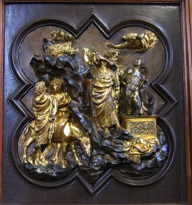 イサクの犠牲 ロレンツォ・ギベルティ, 1401 バルジェッロ国立博物館, フィレンツェ