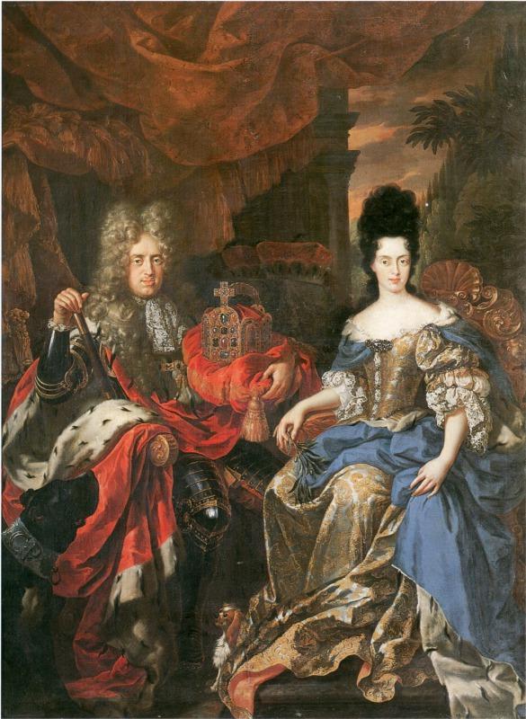 ヨハン・ヴィルヘルムとアンナ・マリア・ルイーザ, ジャン・フラン・ファン・ドーヴェン,1708 ヴァザーリの回廊, フィレンツェ