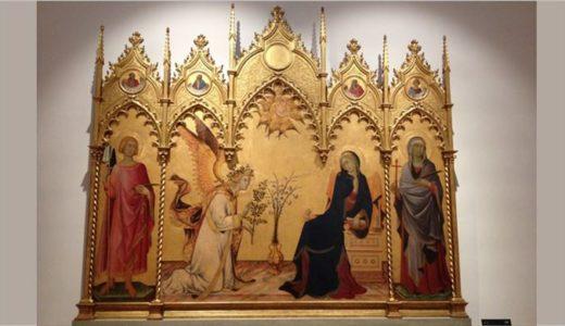 シモーネ・マルティーニ「受胎告知」豪華絢爛なゴシック美術の極み。