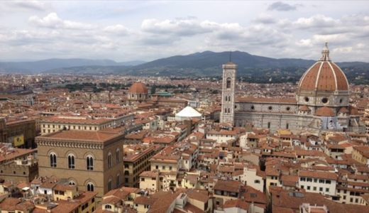 フィレンツェの景色一望の穴場写真スポット!高いとこ好きなの誰だ?