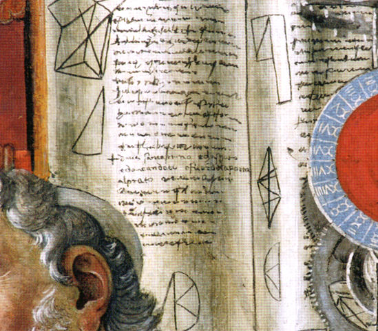 書斎の聖アゴスティーノ <部分>