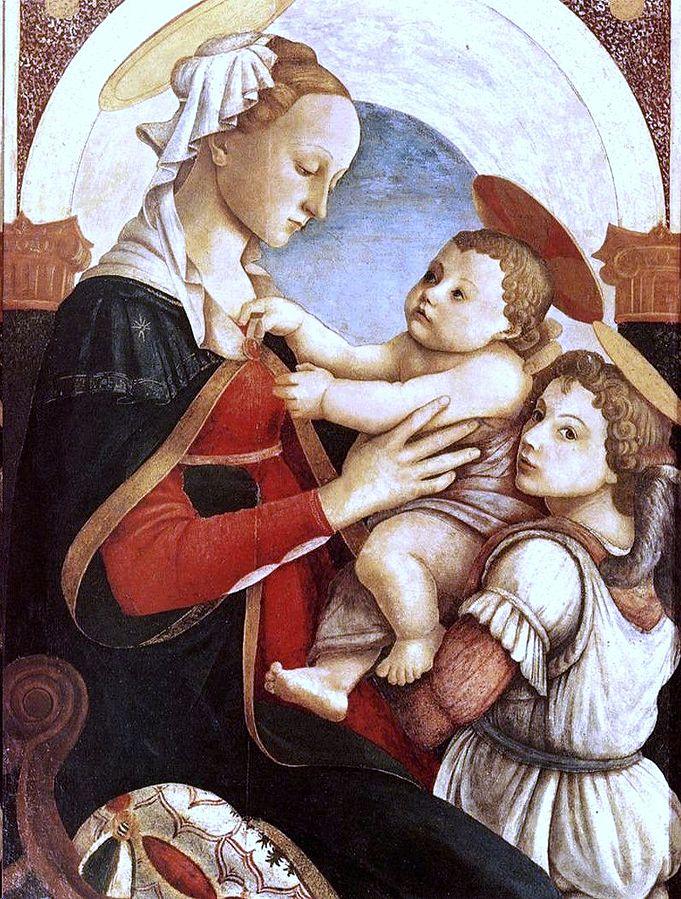 ボッティチェリ 聖母子と天使たち