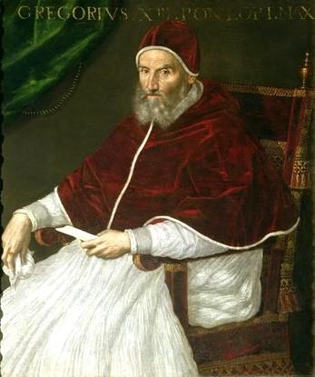グレゴリウス13世の肖像 ラヴィニア・フォンターナ作