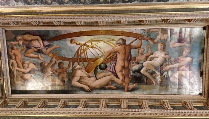 ウラノスの男性器を切り落とすクロノス<br />ジョルジョ・ヴァザーリ, 16世紀<br />ヴェッキオ宮殿, フィレンツェ