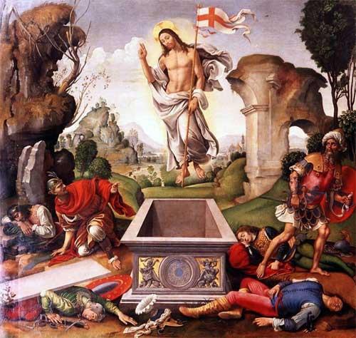 キリストの復活 ラファエリーノ・デル・ガルボ, 1500-05 アカデミア美術館, フィレンツェ