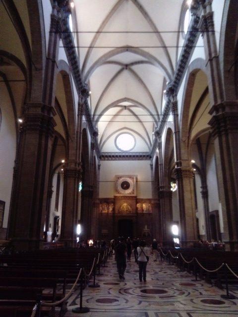 サンタ・マリア・デル・フィオーレ大聖堂(ドゥオモ)内部