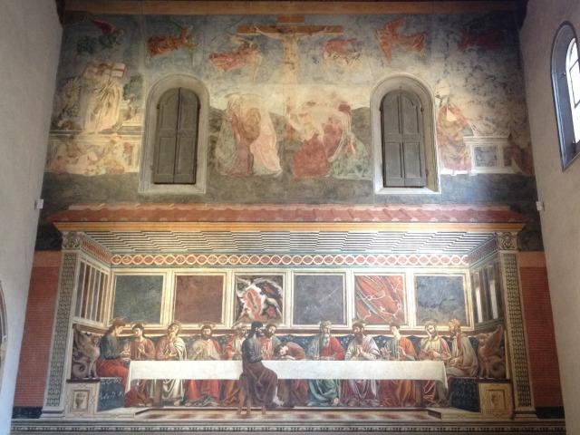 アンドレア・デル・カスタンニョの「最後の晩餐」(サンタポッローニア修道院食堂)