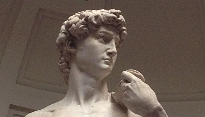 ダヴィデ像 ミケランジェロ・ブォナローティ, 1501-1504 アカデミア美術館, フィレンツェ