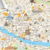 フィレンツェの中心部地図