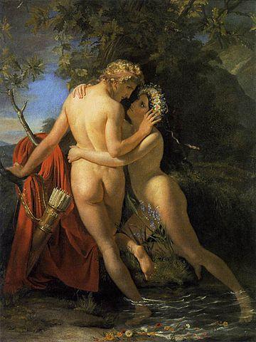 ヘルマプロディートスとサルマキス François-Joseph Navez, 1829 ゲント美術館, ベルギー