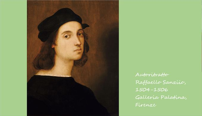 自画像 ラファエロ・サンツィオ, 1504-06頃 パラティーナ美術館, フィレンツェ