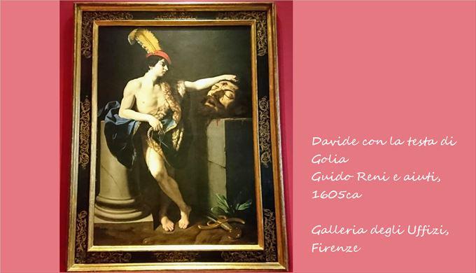 ゴリアテの首を持つダヴィデ グイド・レーニと助手, 1605頃 ウフィツィ美術館, フィレンツェ