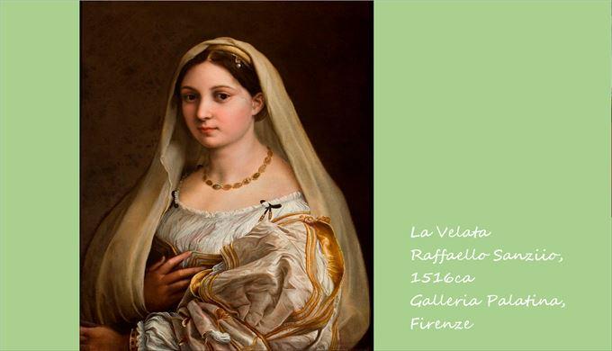 ヴェールの女 ラファエロ・サンツィオ, 1516頃 パラティーナ美術館, フィレンツェ
