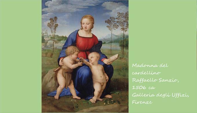 ヒワの聖母 ラファエロ・サンツィオ, 1506頃 ウフィツィ美術館, フィレンツェ