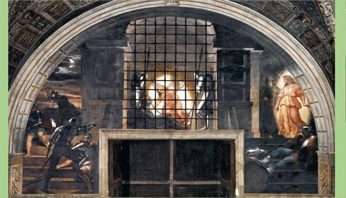 ペテロの解放 ラファエロ・サンツィオ, 1513-14 ヴァチカン美術館, ヴァチカン市国