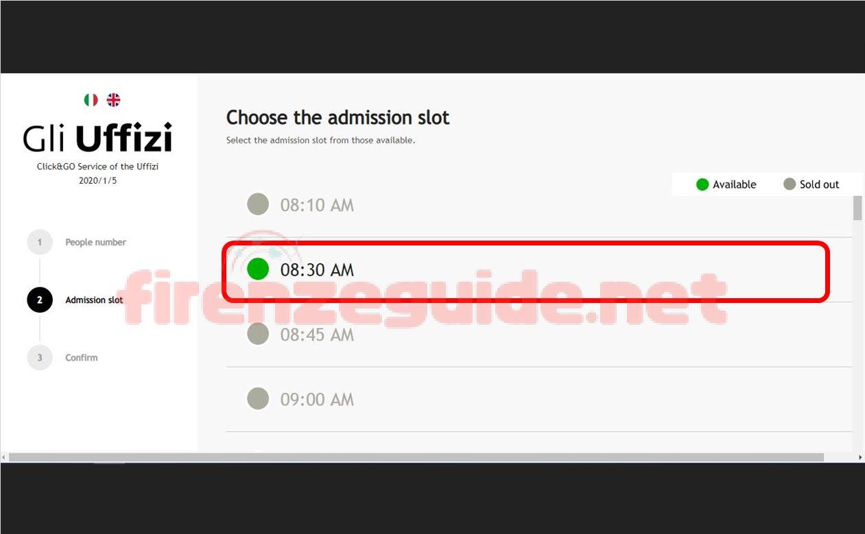 ウフィツィ美術館無料入場日の整理券オンライン入手「CLICK&GO」