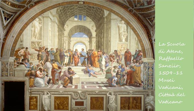 アテネの学堂 ラファエロ・サンツィオ, 1509-11 ヴァチカン美術館, ヴァチカン市国