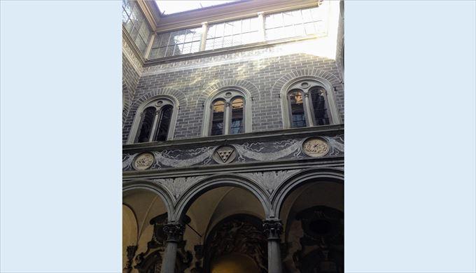 実際のメディチ・リッカルディ宮殿中庭部分