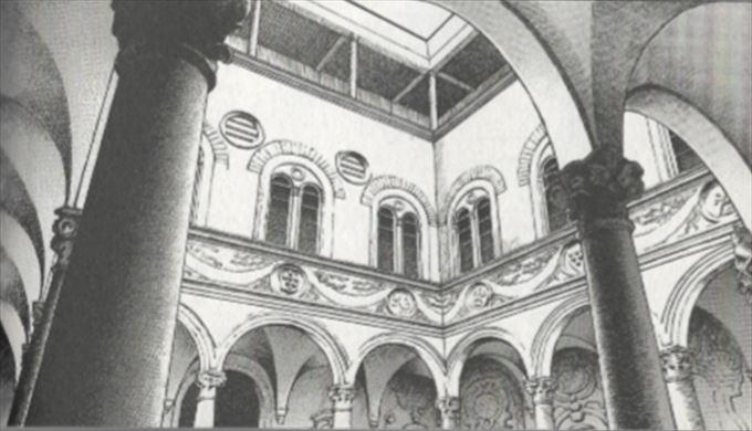 【チェーザレ~破壊の創造者】メディチ・リッカルディ宮殿中庭部分