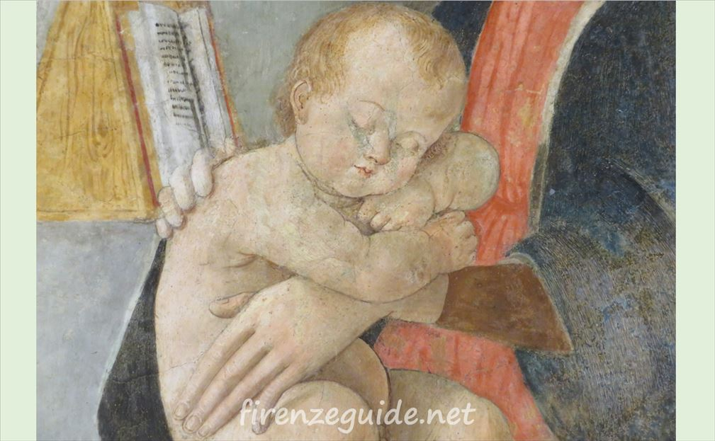 ラファエロの生家に残る聖母子像
