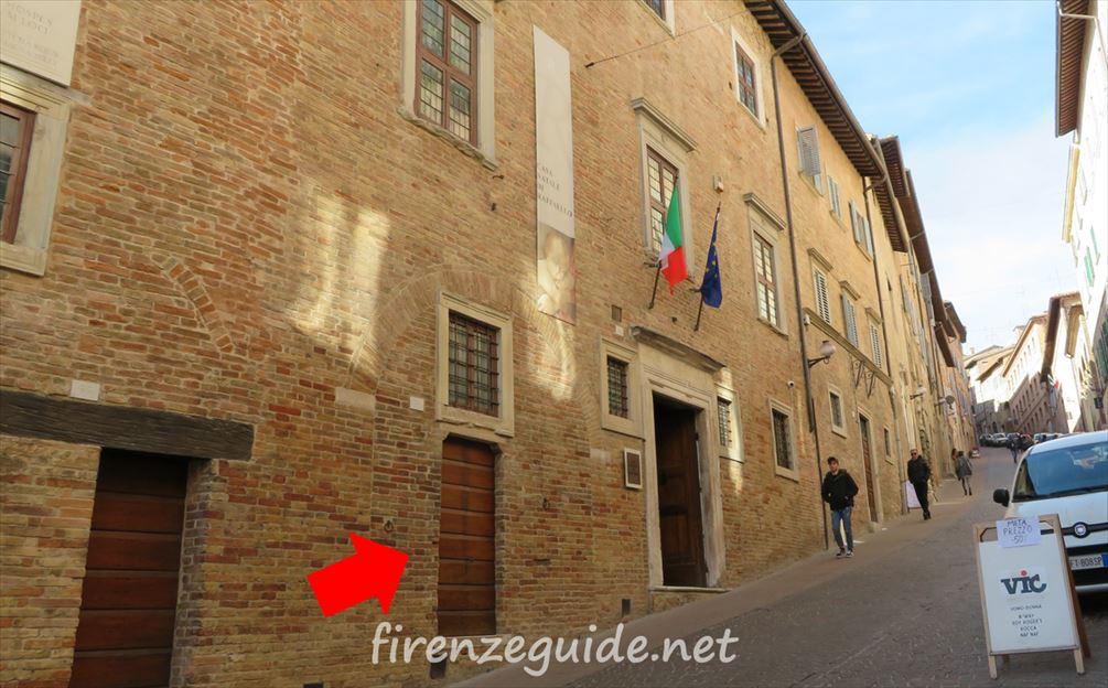 ラファエロの父ジョヴァンニの工房だった場所
