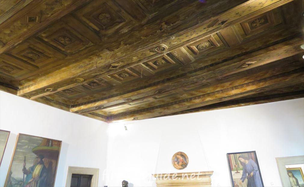 ラファエロの生家 天井