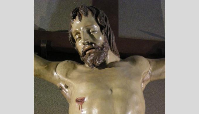 ドナテッロの十字架磔刑像(部分)