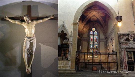 ドナテッロの木製十字架磔刑像
